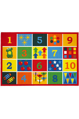 Kids Children Numbers 123 Games Play Rug Mat Carpet Washable 80 x 120cm
