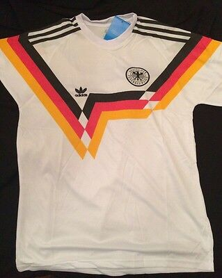 West Germany 1988 1990 retro jersey  Large