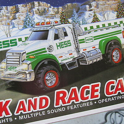 2011 Hess Toy Truck and Race Car In Box
