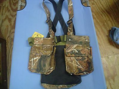 Oakwood Outdoors Camo Upland Bird Small Game Hunting Vest Harness System Canvas