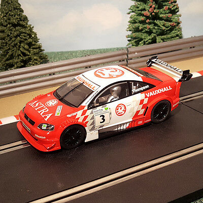 Scalextric 1:32 Car - Red / White DTM Opel V8 Coupe #3 *LIGHTS* #M