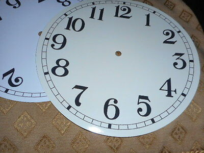 "Round Paper Clock Dial - 7"" M/T - Arabic- HIgh Gloss Cream -Face/ Clock Parts"