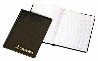 Adams Account Book, 7 x 9.25 Inches, Black, 2-Columns, 80 Pages (ARB8002M) New