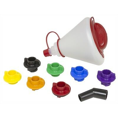 LISLE 19342 Multi Application Oil Fill Funnel with Accessories Cap Adaptors
