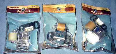 3 Vintage Unused Amerock LARGE Roller Catch Kit for interior doors No. 9745-2