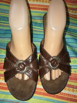 Slide Brown Wedges Sandalswomens Ariat Leather Mules Upper Size 8b kXiwZPuOT