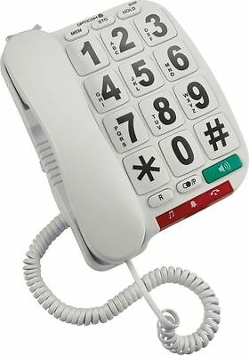 Opticom Corded Telephone with Hearing Aid Compatible A+ RRP £11.99