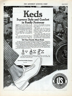 1917 Keds Shoe ad from US Rubber ---k101