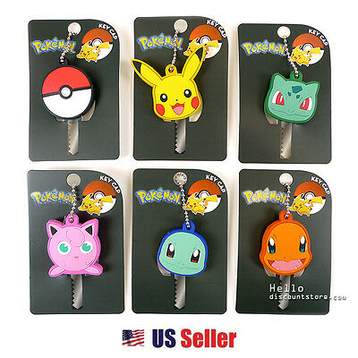 Nintendo Pokemon Key Cap Key Chain Key Cover (6 Designs)