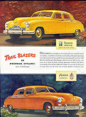 1947 Kaiser-Frazer car ad Body Styling By Darrin-[-206