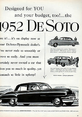 1952 Desoto car ad --Drive without shifting !!--0-385