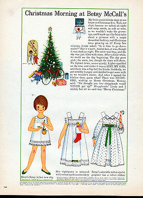 Betsy McCall --Christmas Morning 1963 -Paper Doll ad -604