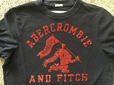 Abercrombie & Fitch navy blue T shirt young mans muscle  size L