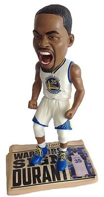 KEVIN DURANT Golden State Warriors EXCLUSIVE Newspaper Base Bobblehead IN STOCK!