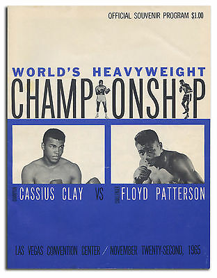 Cassius Clay vs Floyd Patterson Onsite Fight Program