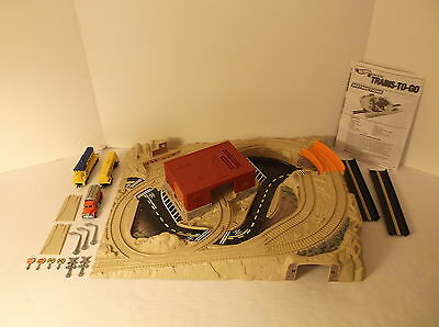 1990 Hot Wheels Sto & Go Trains To Go Railroad Playset Complete Parts