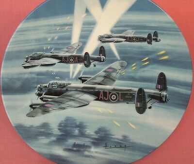 Royal Worcester Over Enemy Territory Dambusters Raf Plane Plate Wilfred Hardy