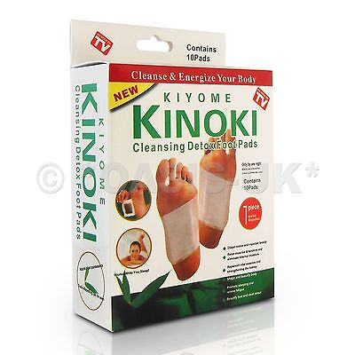 100 x KINOKI DETOX PATCHES - foot pads, remove body toxins, stress, weight loss