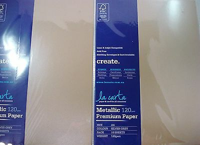 2 x 10pk A4 Premium 120gsm Card Paper Silver Grey Craft DIY FREE POSTAGE