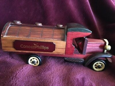 WOODEN CONOCOPHILLIPS TRUCK - A Great Gift!
