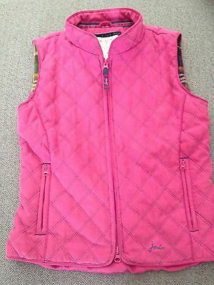 Joules Gilet 9-10 Girls Body Warmer Pink/Navy Quilted Gillet Riding Jacket Coat