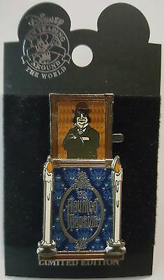 Disney Pin DLR Haunted Mansion Stretching Room Portrait Quicksand Slider Le 2000
