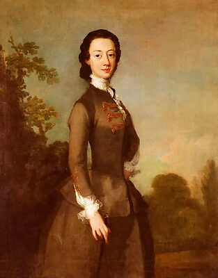 Oil painting richard wilson portrait of lady possibly member of the foley family