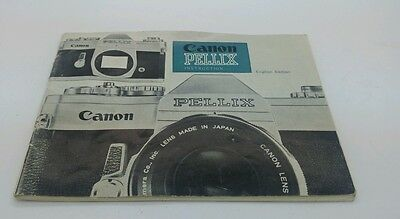 Original instruction manual for CANON PELLIX camera  46p