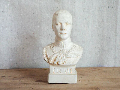 Rare Vintage 1936 Chalkware Figurine of English Royal King Edward VIII Statue