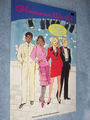 1990 Glamour World Paper Dolls (with 4 dolls)