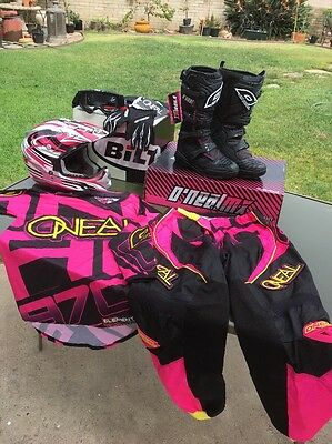 O'Neal Element Women'sMotocross Dirtbike Gear Full Set ALL NEW UNUSED pink Black