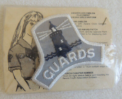 Vintage Awana Guards Patch still in package