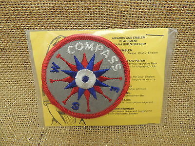 Vintage Awana Compass Patch still in package