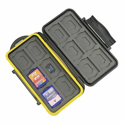 Waterproof Shockproof Hard Storage Memory Card Case For 12 SD +12 Micro SD Cards