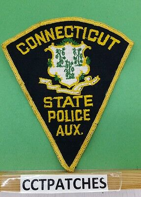 Connecticut State Auxiliary Police (Black) Shoulder Patch Ct
