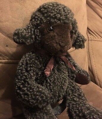 "Russ Lil Trubbles Black Sheep Plush 9"" Stuffed Animal Lamb Fuzzy"