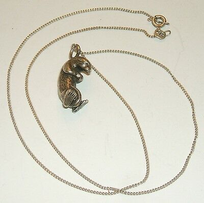 Beautifully detailed Sterling Silver Sea Otter Pendant Necklace