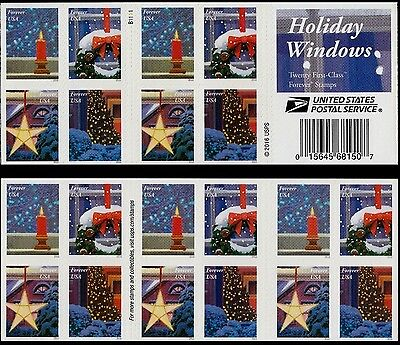 Us Christmas 2016 Scott #5143-5146 Holiday Windows 20 Forever Stamp Booklet Nip