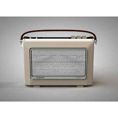 Goodmans 1960's Vintage Style Digital & FM Radio in Cream DAB+ OXFORDCRM