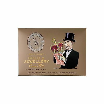 Town Talk Gold & Jewellery Care Kit - 1 Polishing Cloth + 2 Cleaning Sachets