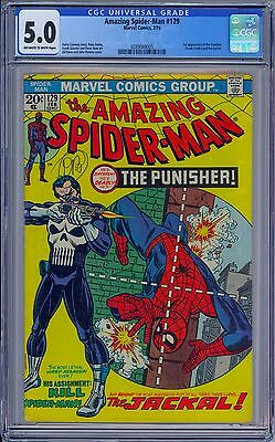AMAZING SPIDER-MAN #129 - CGC 5.0 OW-W Pages - VG/FN First PUNISHER FRANK CASTLE