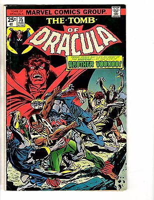 Lot Of 5 Marvel Comics Dracula # 35 Man-Thing # 19 & Marvel Feature # 3 4 6 YY2