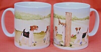 Fox Terrier Dog Mug Design Off To The Dog Show Sandra Coen Artist Print