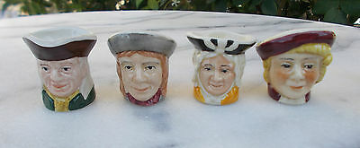 Tony Wood & Sons England 4 x Miniature Toby Jugs Vintage Collectable 1987 - 1992