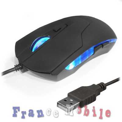 Souris Optique Filaire Roulette USB 2.0 Mouse 2400 DPI Optical Scroll Wheel Noir
