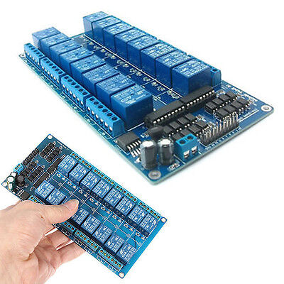 12V 16-Channel Relay Shield Module with optocoupler Fits for Arduino AVR 8051