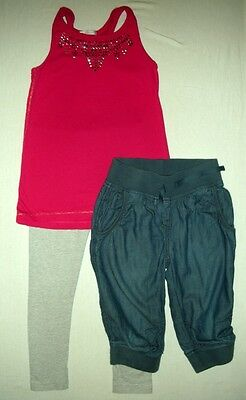 set of girls' clothes 7 years (a top, shorts and leggings) NEXT, M&S