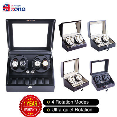 Xtelary Luxury Automatic Dual Motor Watch Winder Storage Display Box Leather