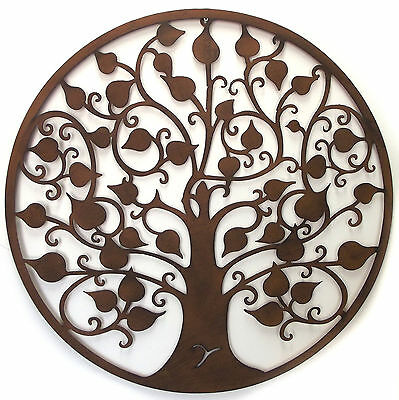 Tree of life wall art hanging Rustic colour Round Garden decor