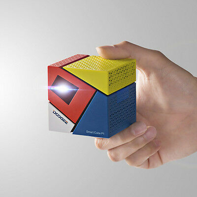 DOOGEE CUBE P1 Smart Mini DLP LED Projector Android 4.4 WiFi HDMI Home Theater
